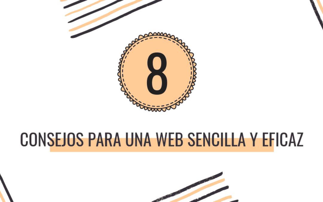 8 Consejos para una web sencilla y eficaz